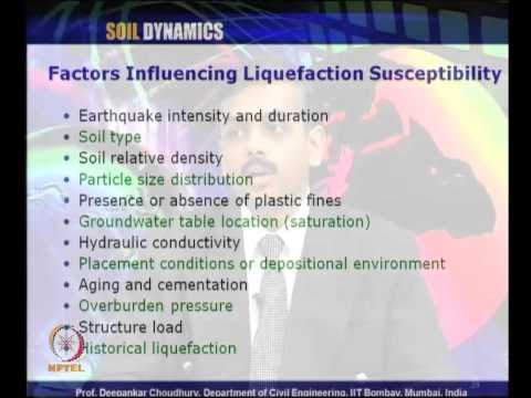 Mod-04 Lec-22 L22-Liquefaction, Preliminary sceening, Simplified Procedure for Liquefaction