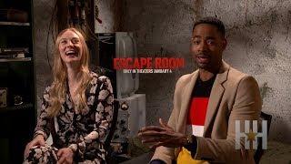 Jay Ellis And Deborah Ann Woll Talk 'Escape Room' Tactics