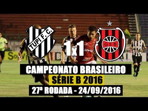 Tupi 1x1 G.E.Brasil - Campeontato Brasileiro Série B - 24/09/2016
