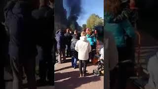 Смотреть видео Взрыв машины в Советском переулке онлайн