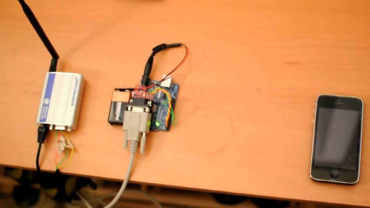 Digital Physical Prototyping Sending Sms With Arduino And Cell Modem Rs232 Wiring Phone Youtube
