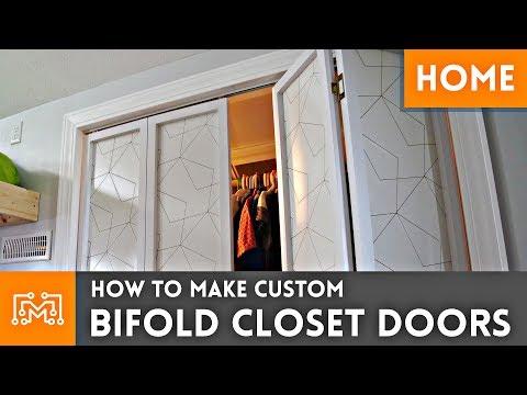 How To Make Custom Bifold Closet Doors // Woodworking