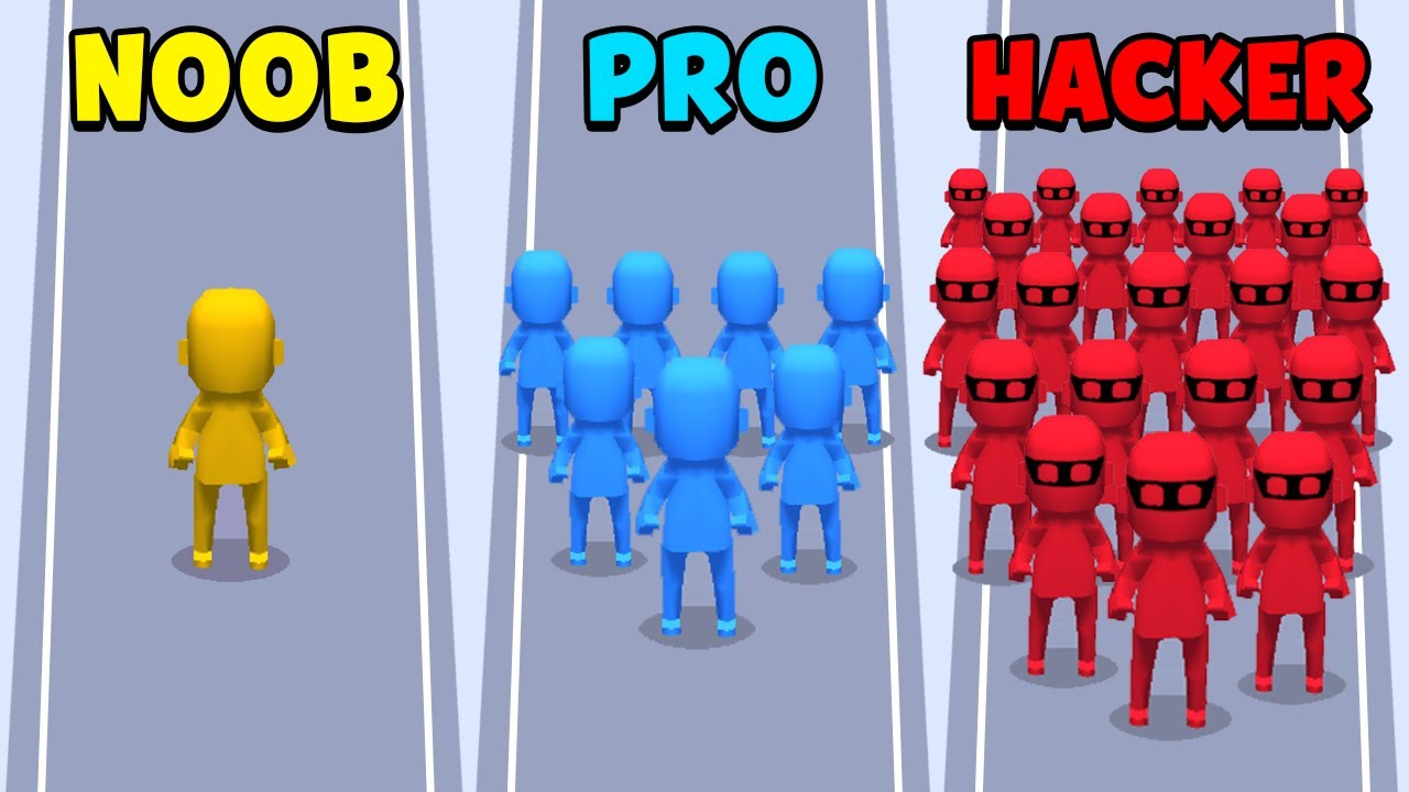Download NOOB vs PRO vs HACKER - Crowd City
