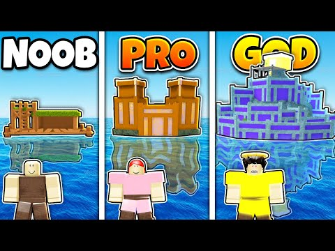 Roblox Booga Booga Noob Vs Pro Vs Hacker Roblox Noob Vs Pro Vs God Safest Base On Water Build In Booga Booga Youtube
