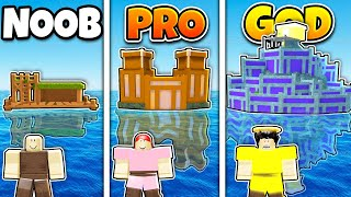 Roblox NOOB vs PRO vs GOD SAFEST BASE ON WATER BUILD in BOOGA BOOGA