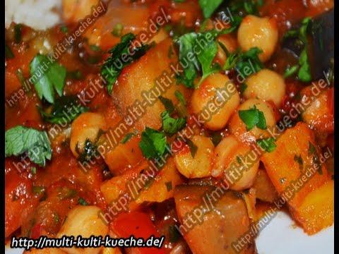 Rezept / Rezepte: Kichererbsen Gemüse Pfanne - YouTube