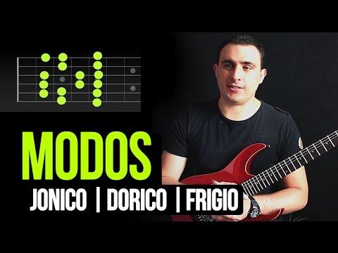 MODOS EN LA GUITARRA - JONICO | DORICO | FRIGIO