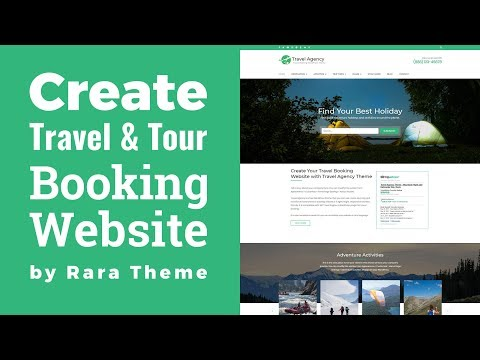 Travel Agency WordPress Theme Customization Video Tutorial | Travel Booking Website