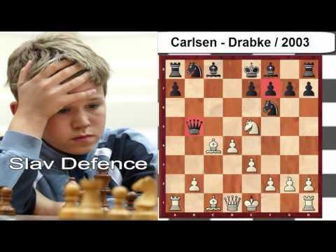 Slav Defence Carlsen vs Drabke  2003