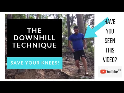 Downhill Technique To Save Your Knees