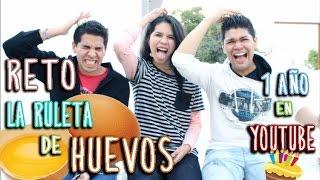 RETO LA RULETA DE HUEVOS | 1 AÑO EN YOUTUBE Thumbnail