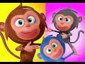 Five Little Monkeys Jumping On The Bed Nursery Rhyme | Videogyan 3D Kids Rhymes