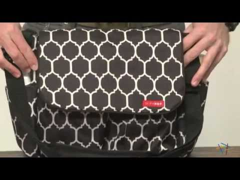 Dash Messenger Diaper Bag In Onyx Tile - Product Review Video