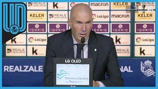 El cuadro merengue inició su participación en la Liga con empate sin goles ante la Real Sociedad. Aquí las declaraciones de 'Zizou'