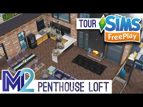 Sims FreePlay - Penthouse Loft Apartment (Original Design)