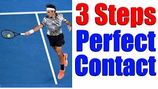 3 Steps To Hitting A Perfect Tennis Shot - Tennis Lessons Online