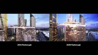 Queen's Wharf Precinct Updated Flythough Comparison