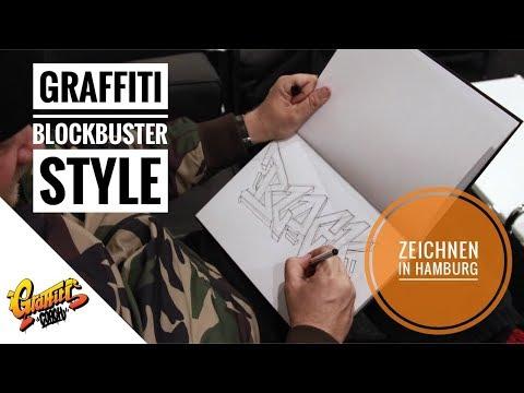 Graffiti Coach  Graffiti lernen  Blockbuster Style zeichnen in Hamburg  Basics