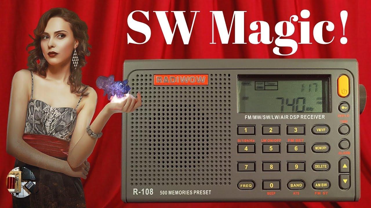 RADIWOW R-108 Shortwave Radio   Full Review & Demo