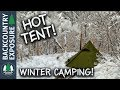 Overnight Winter Backpacking Trip In A Hot Tent
