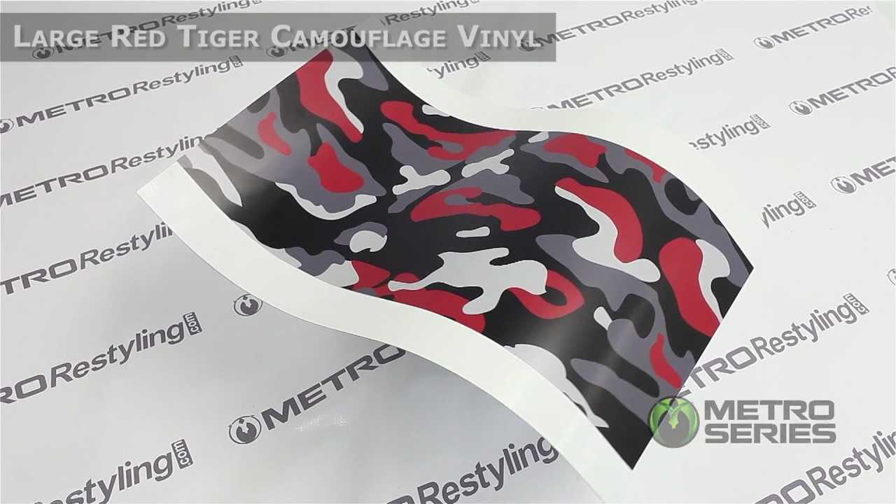 Metro Large Red Tiger Camouflage Vinyl Wrap Film