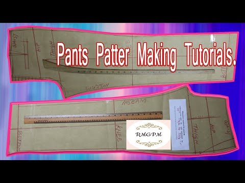 How to Make Men's Dress Pant Pattern !! Trouser Pattern Making !! How to Pant Pattern Cutting