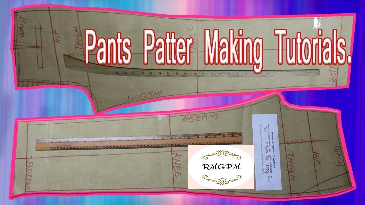 DIY How to Make Men's Dress Pant Pattern |Trouser Pattern Making | How to Pant Pattern Cutting