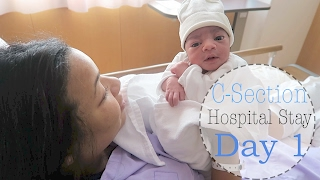 C Section Hospital Stay Day 1 Vlog