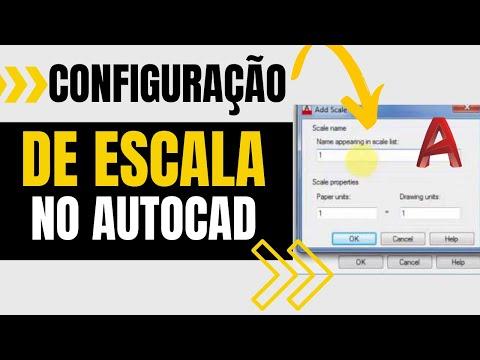 Configuração de Escalas no AutoCAD