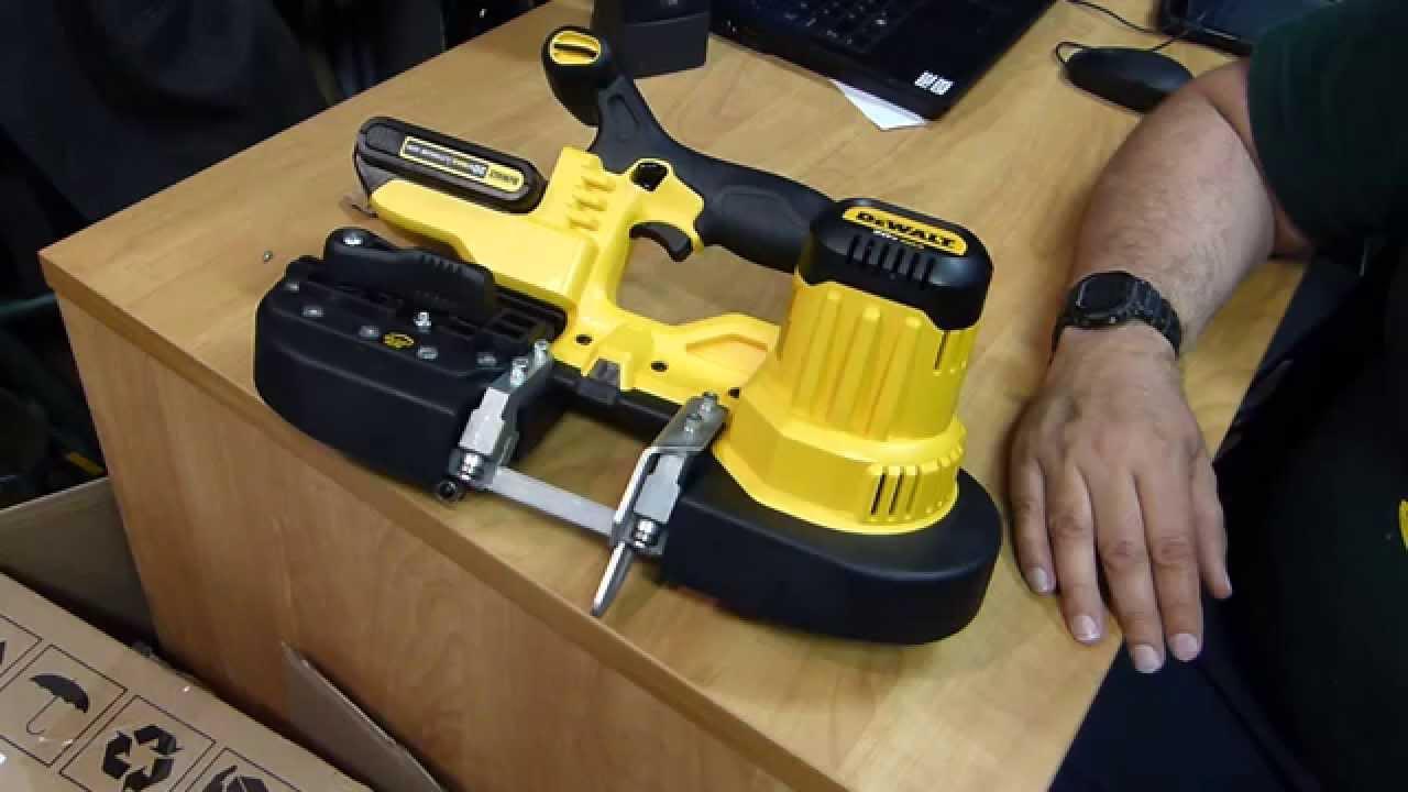 Dewalt Dcs371b Dcs371k 20v Cordless Handheld Bandsaw Youtube