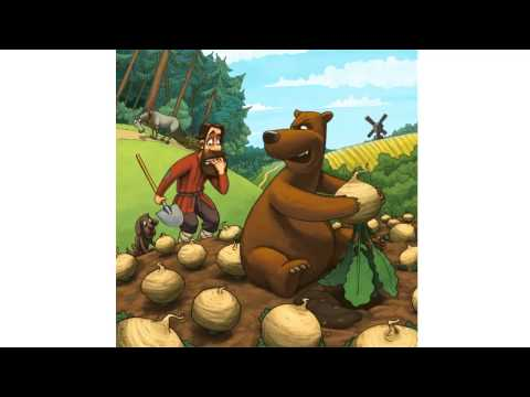 Сказка Мужик и медведь.Вершки и корешки сказка