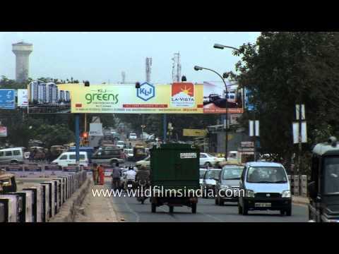 Bustling roads of Faridabad: Haryana