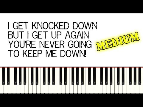 CHUMBAWAMBA  TUBTHUMPING I Get Knocked Down  Piano Tutorial