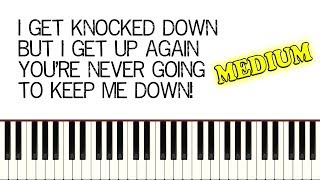 CHUMBAWAMBA - TUBTHUMPING (I Get Knocked Down) - Piano Tutorial