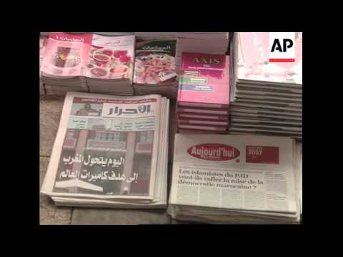 Headlines after apathy mars Morocco