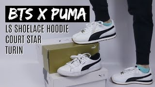 BTS x PUMA - Turin Review (feat. Court Stars and Hoodie) | haul