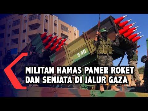 Militer Hamas Pamer Pasokan Rudal Dan Drone Rayakan Genjatan Senjata Dengan Israel