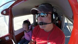 Flying With the Kids Departing Conroe to Recklaw October 2016