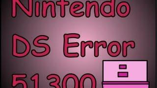 Code erreur 51300 nintendo ds