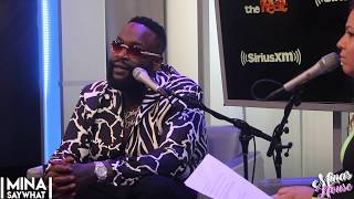 Rick Ross & Mina SayWhat Talk About Jay Z/NFL Deal, Ownership, Coming To America 2 Filming