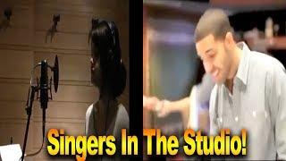 Singers In The Studio Compilation ( Drake, Selena Gomez, Justin Bieber, etc)