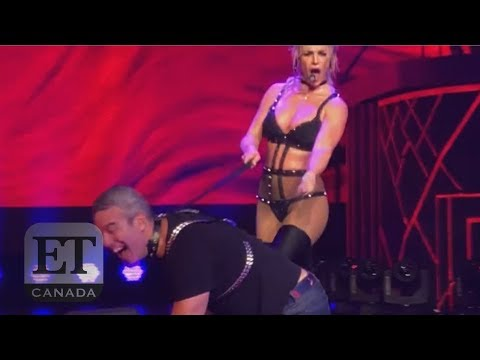 Britney Spears Brings Andy Cohen On Stage