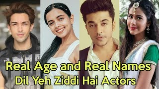 Real Age and Real Names of Dil Yeh Ziddi Hai Cast Actors | Dil Yeh Ziddi Hai Zee TV New Show 2019 |