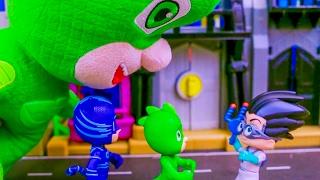 Герои в масках игрушки Новая Серия 2017. Видео для детей про супергероев игрушки Пи Джей Маски.
