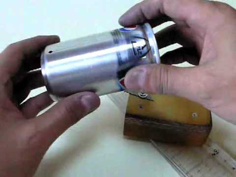 How to make Open Jet Alcohol Stove with built-in pot support