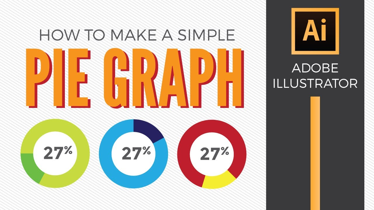 How To Make A Simple Pie Graph In Adobe Ilrator Graphic Design