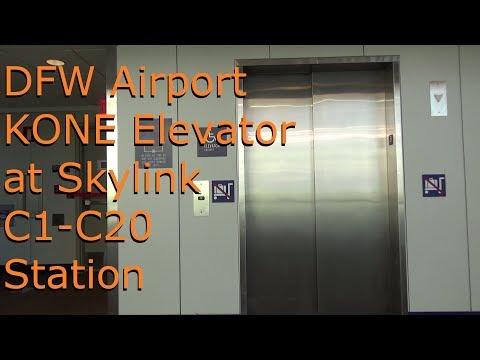 KONE Elevator at DFW Airport SkyLink C1-C20 Station - YouTube
