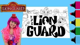 Coloring All The Lion Guard Characters Coloring Book Page Colored Markers | KiMMi THE CLOWN