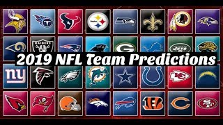 NFL Team record predictions for the 2019 season | All 32 Teams