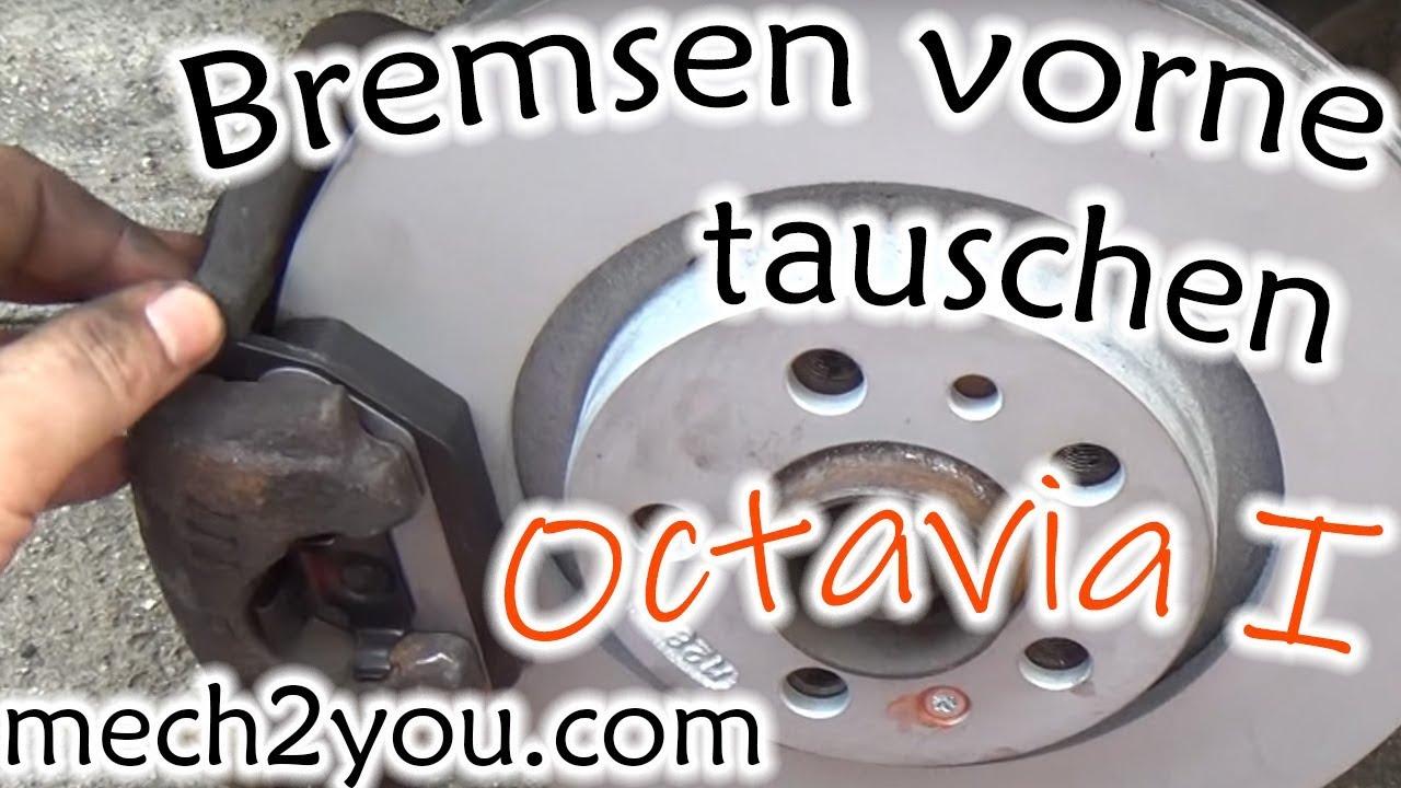 skoda octavia 1 8 bremsen vorne wechseln youtube. Black Bedroom Furniture Sets. Home Design Ideas